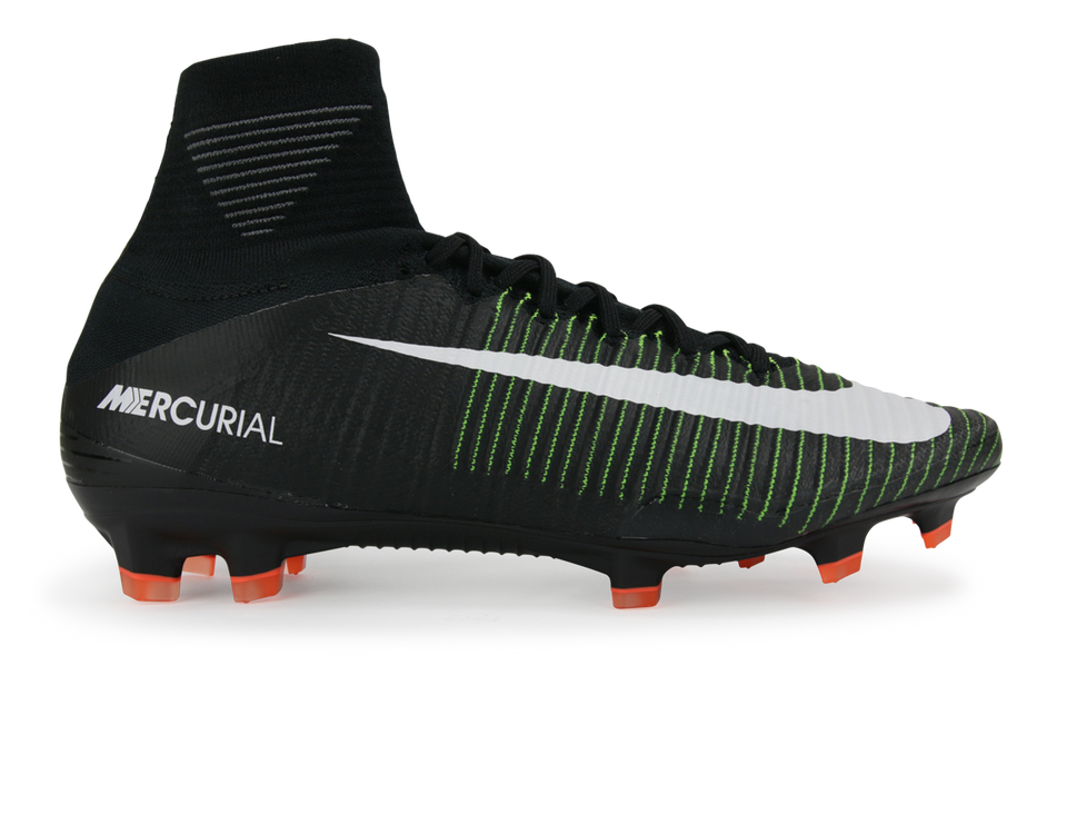 Nike Men's Mercurial Superfly V FG Black/White/Electric Green