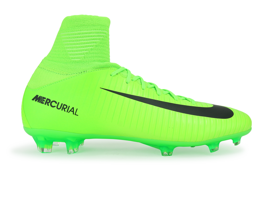 Nike Kids Mercurial Superfly V FG Electric Green/Black/Flash Lime