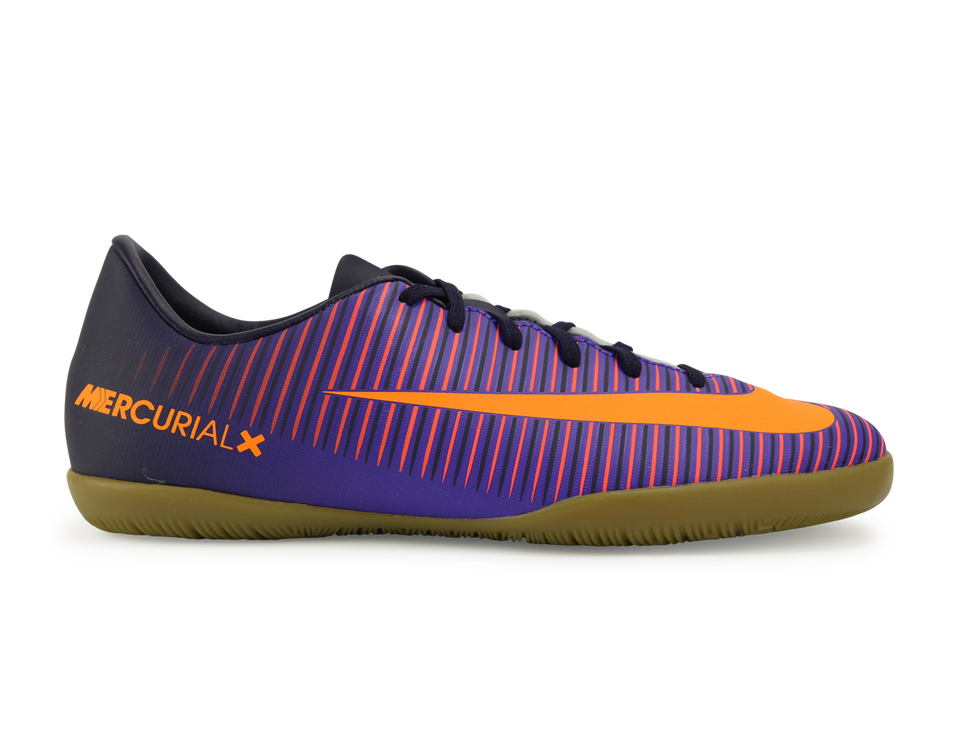 Nike Kids MercurialX Victory VI Indoor Soccer Shoes Pure Dynasty/Bright Citrus/Hyper Grape