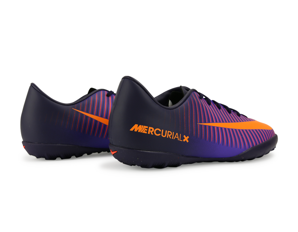Nike Kids MercurialX Victory VI Turf Soccer Shoes Pure Dynasty/Bright Citrus/Hyper Grape