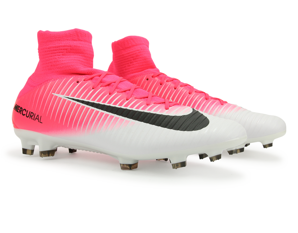 Nike Men's Mercurial Veloce III Dynamic Fit FG Racer Pink/Black/White