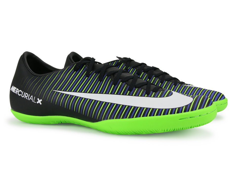 Nike Men's MercurialX Victory VI Indoor Shoes Black/White/Electric Green