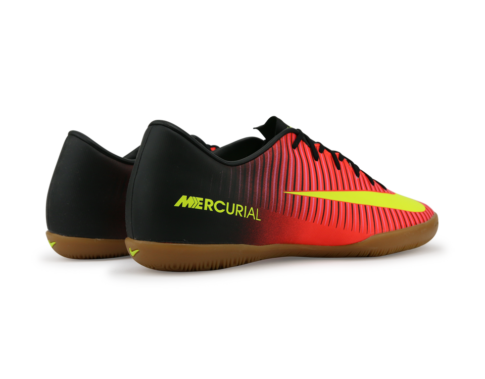 Nike Men's Mercurial Victory VI Indoor Soccer Shoes Total Crimson/Volt Black/Pink Blast