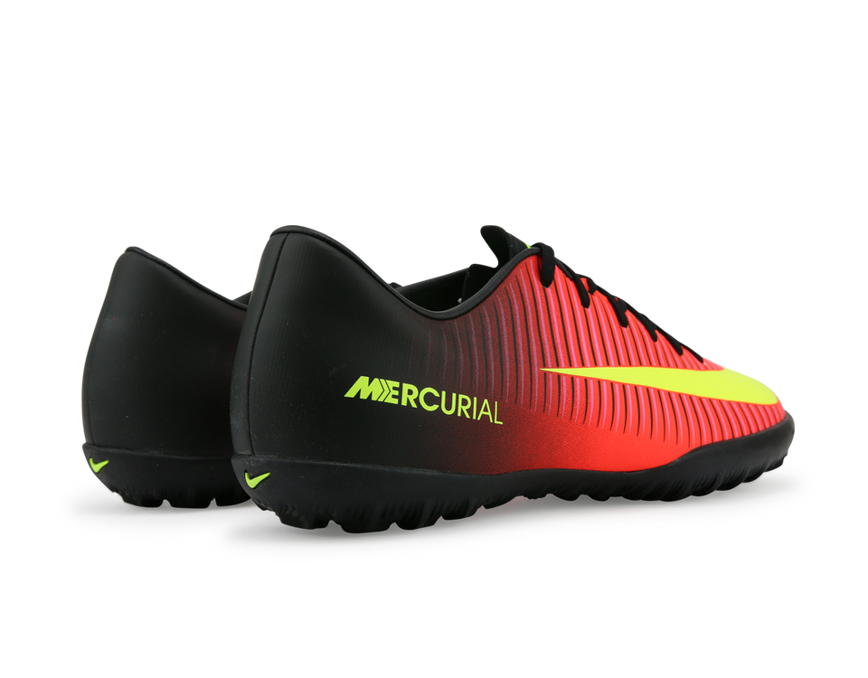 Nike Men's Mercurial Victory VI Turf Scocer Shoes Total Crimson/Volt Black/Pink Blast