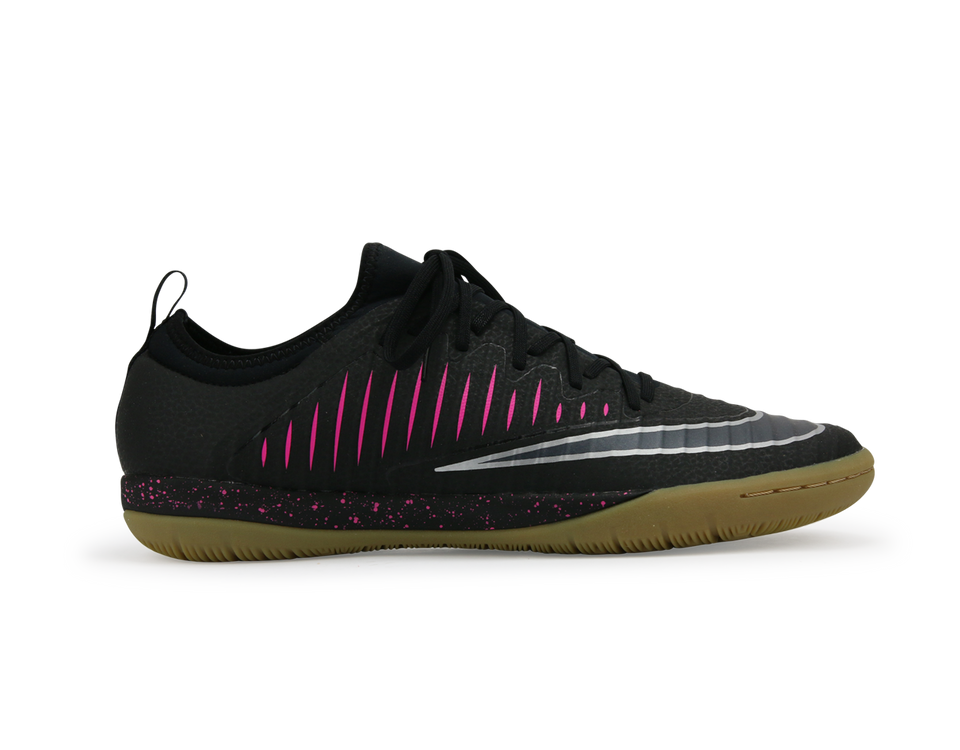 Nike Men's MercurialX Finale II Indoor Soccer Shoes /Black Pink/Blast Gum/Light Brown