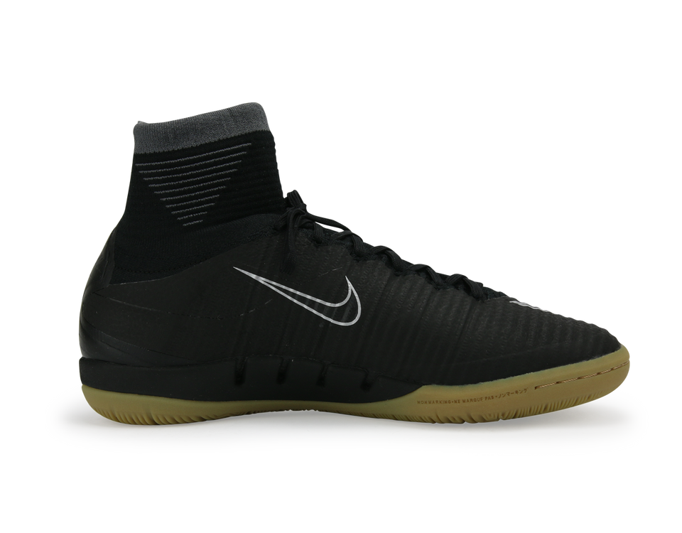 Nike Men's MercurialX Proximo II Indoor Soccer Shoes Black/Black/Gum
