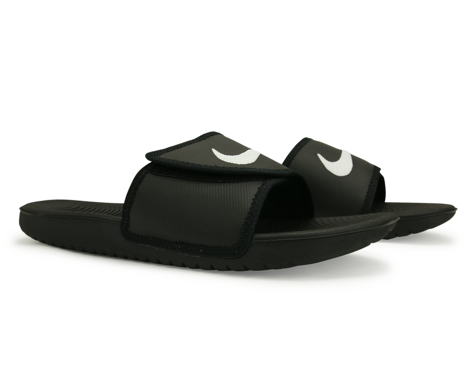 Nike Men's Kawa Adjustable Sandal Black/White