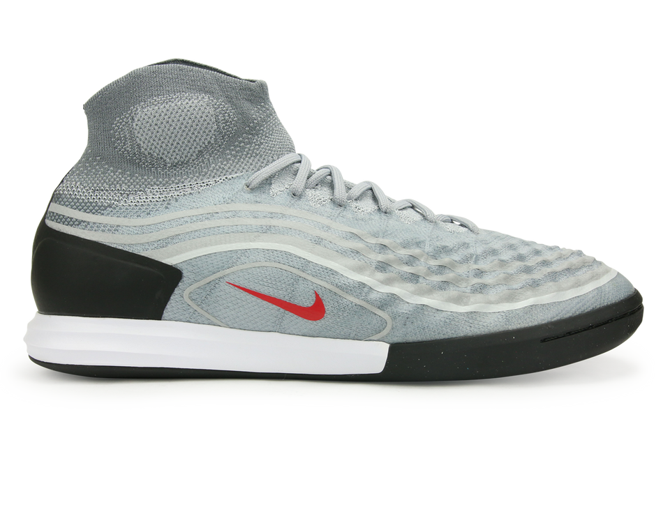 Nike Men's MagistaX Proximo II Dynamic Fit Indoor Soccer Shoes Cool Grey/Varsity Red/Black/Wolf Grey