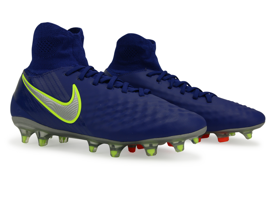 Nike Kids Magista Obra II FG Deep Royal Blue/Chrome/Total Crimson