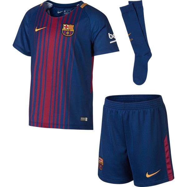 Nike Kids FC Barcelona 17/18 Home Mini Kit Deep Royal Blue/University Gold
