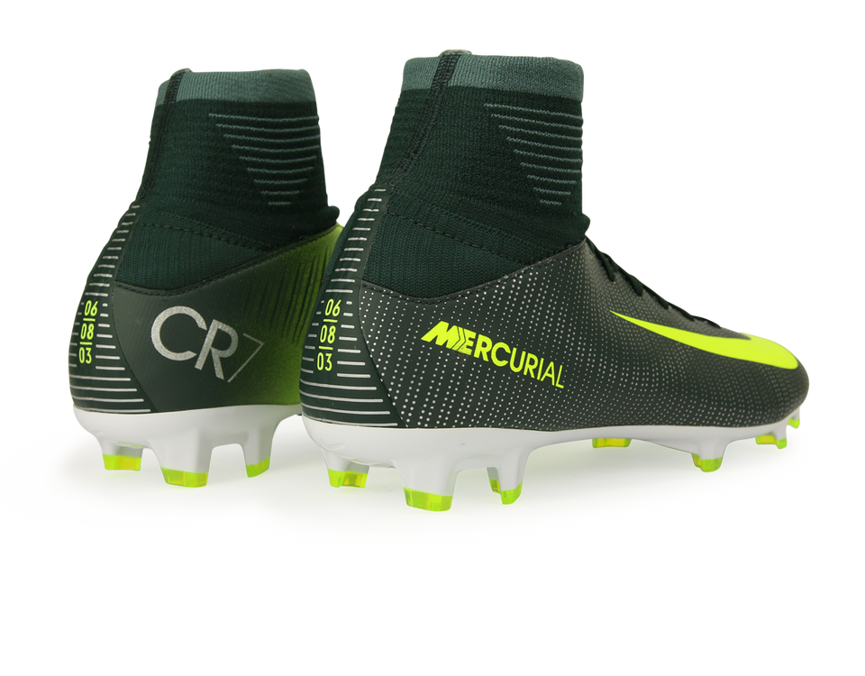 Nike Kids Mercurial Superfly V CR7 FG Seaweed/Volt/Hasta/White