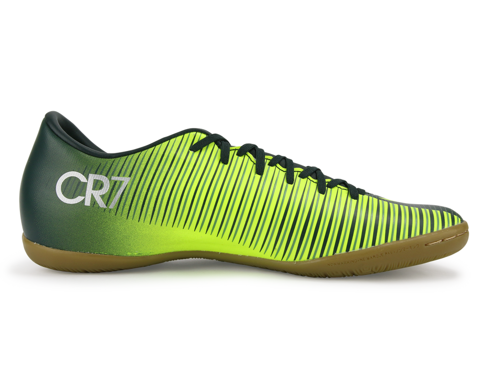 Nike Men's MercurialX Victory VI CR7 Indoor Soccer Shoes Seaweed/Volt/Hasta/White