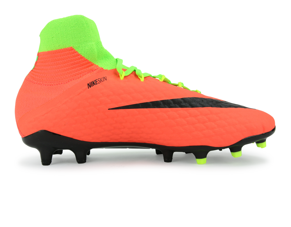 Nike Men's Hypervenom Phatal III Dynamic Fit FG Electric Green/Black/Hyper Orange
