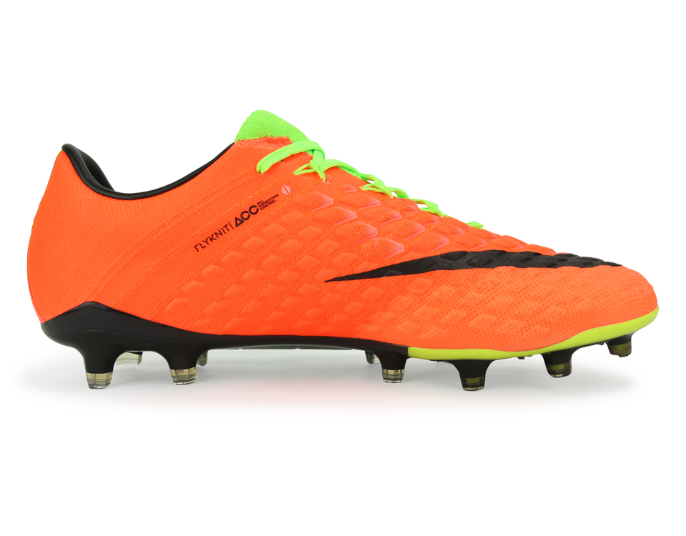 Nike Men's Hypervenom Phantom III FG Electric Green/Black/Hyper Orange