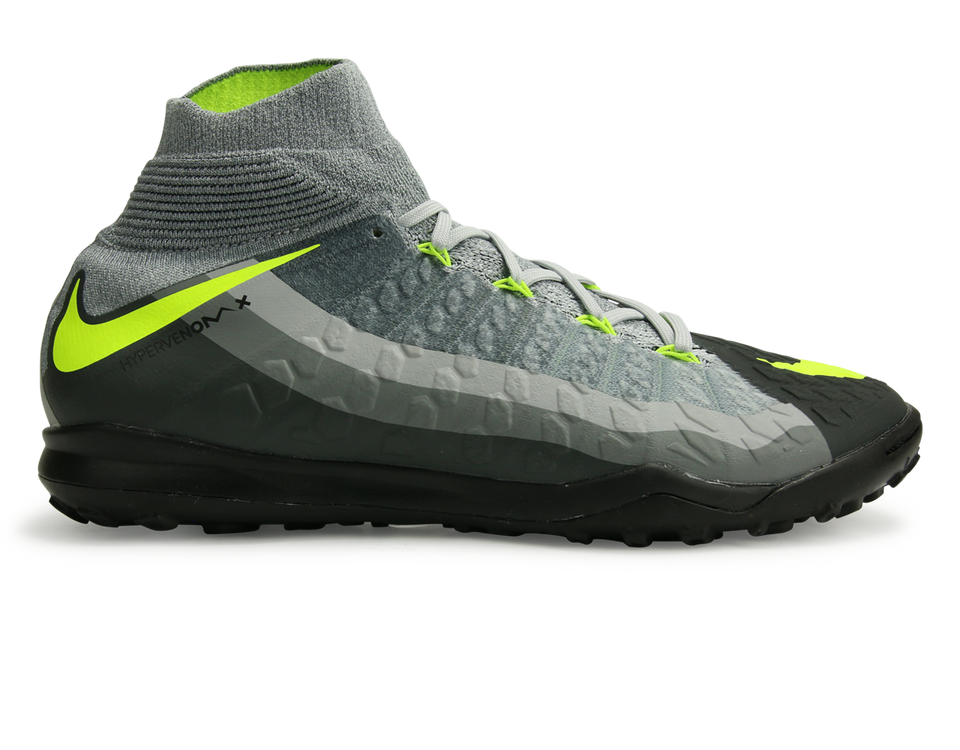Nike Men's Hypervenom Proximo II Dynamic Fit Turf Soccer Shoes Black/Volt/Dark Grey/Wolf Grey