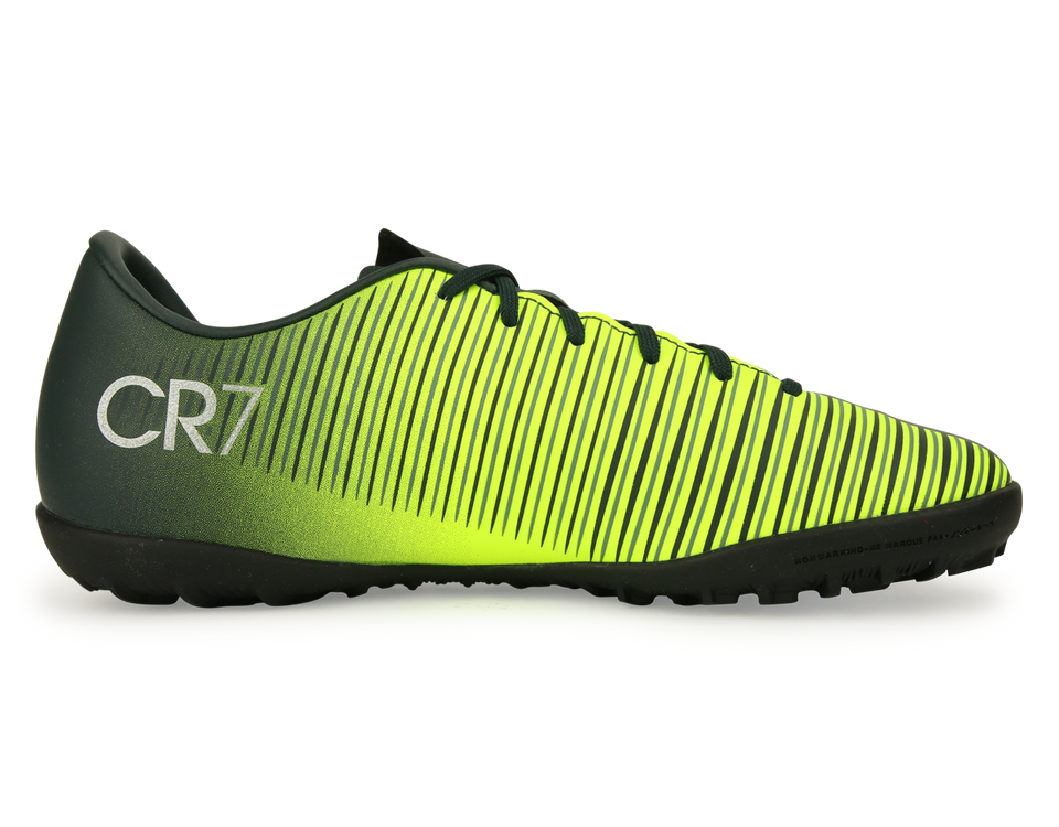 Nike Kids MercurialX Victory VI CR7 Turf Soccer Shoes Seaweed/Volt/Hasta/White