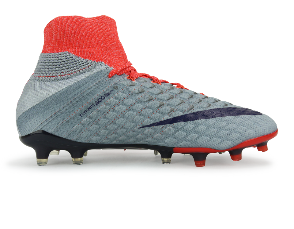 Nike Women's Hypervenom Phantom III Dynamic Fit FG Wolf Grey/Purple/Orange