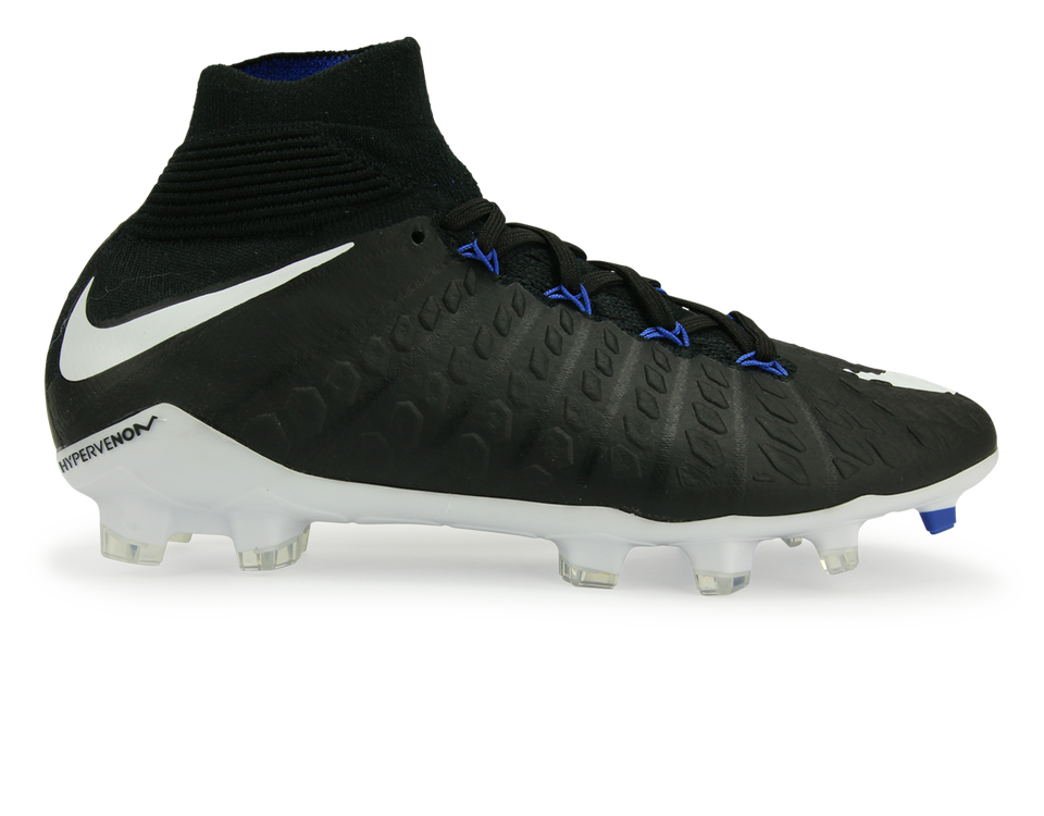Nike Kids Hypervenom Phantom III Dynamic Fit FG Black/White/Game Royal