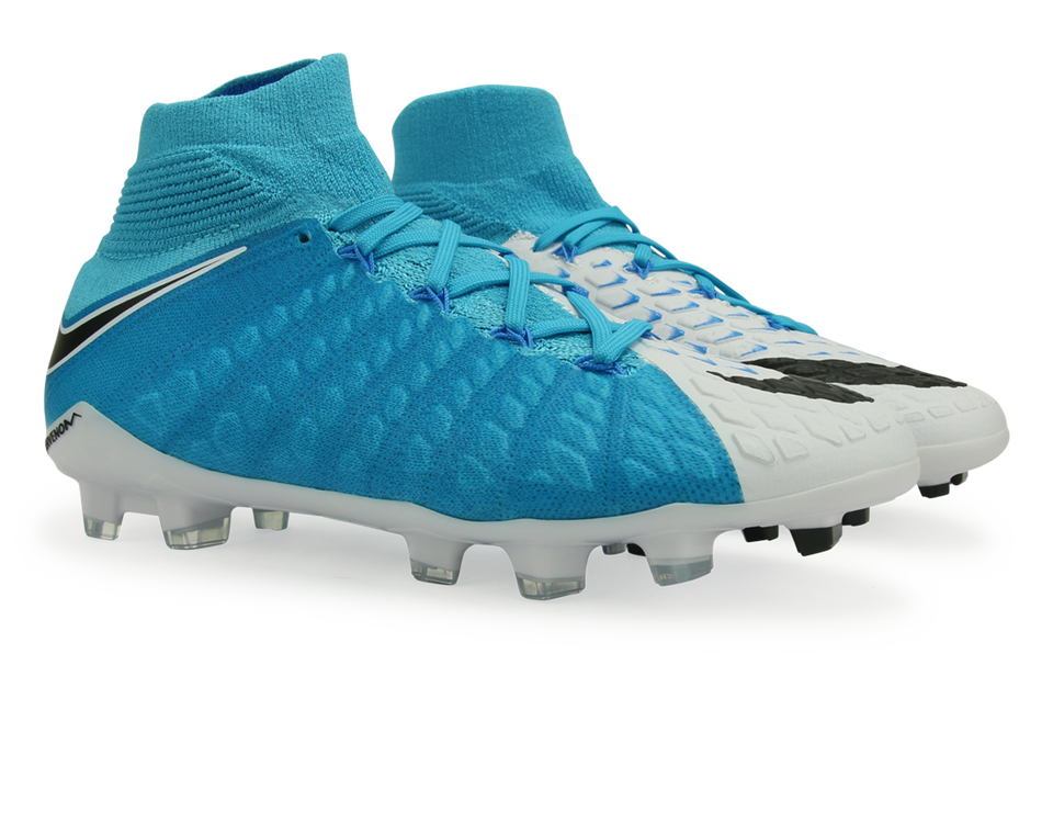 Nike Kids Hypervenom Phantom III Dynamic Fit FG White/Blue/Photo Blue