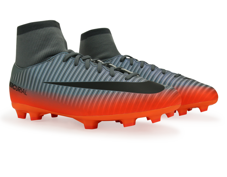 Nike Kids MercurialX Victory VI CR7 Dynamic Fit FG Cool Grey/Metalic Hematite/Wolf Grey