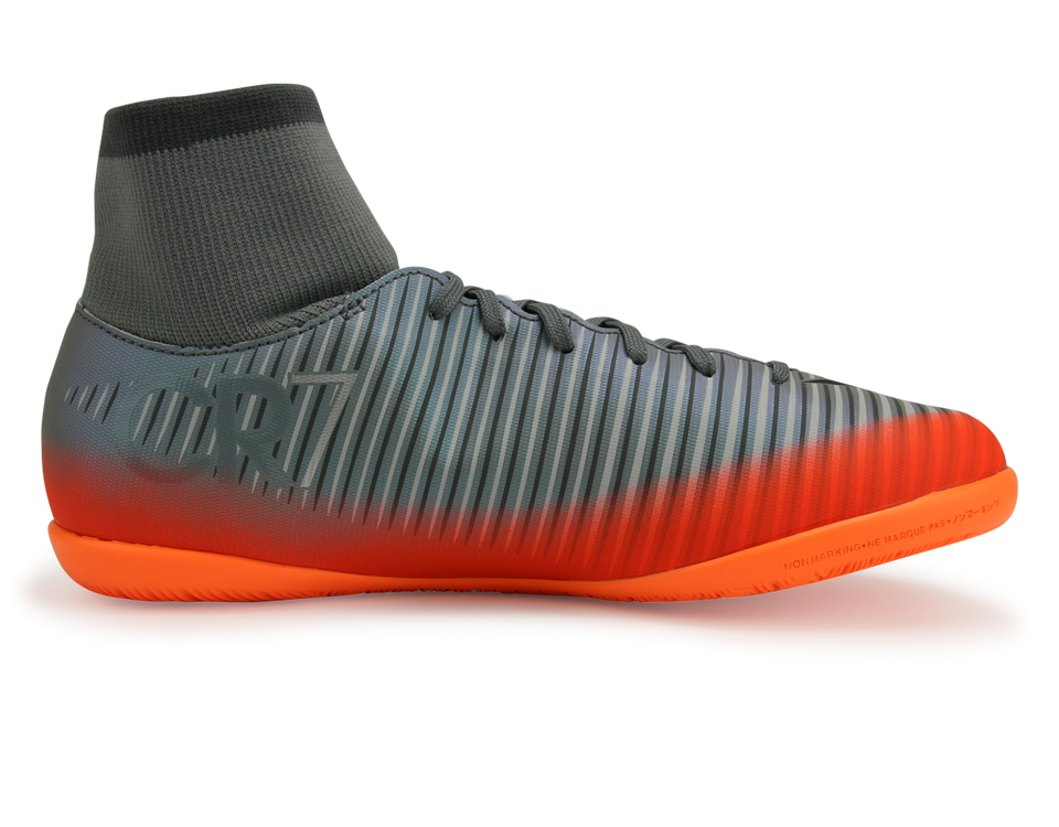 Nike Kids MercurialX Victory VI CR7 Dynamic Fit Indoor Soccer Shoes Cool Grey/Metalic Hematite/Wolf Grey