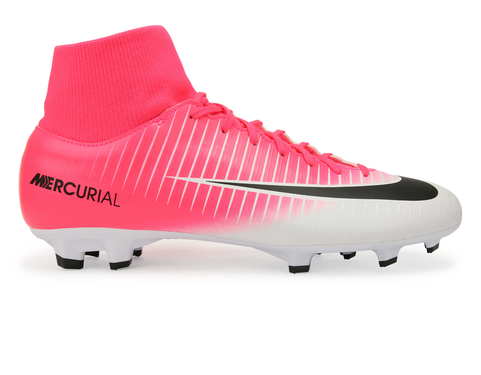 Nike Men's Mercurial Victory VI Dynamic Fit FG Racer Pink/Black/White