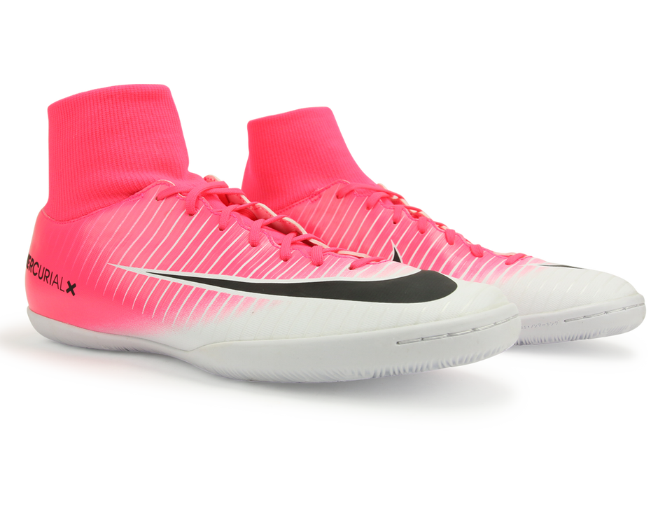 Nike Men's MercurialX Victory VI Dynamic Fit Indoor Soccer Shoes Racer Pink/Black/White