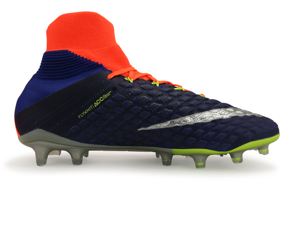 Nike Men's Hypervenom Phantom III Dynamic Fit FG Deep Royal Blue/Chrome/Total Crimson