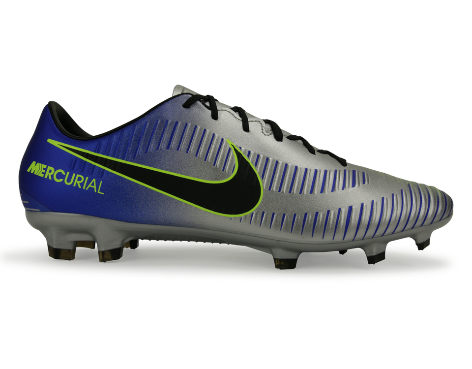 Nike Kids MercurialX Victory VI Dynamic Fit Neymar Jr FG Racer Blue/Black/Chrome/Volt (TEST)