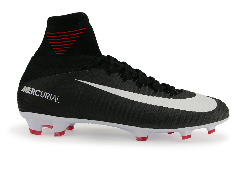 Nike Kids Mercurial Superfly V FG Black/White/Dark Grey