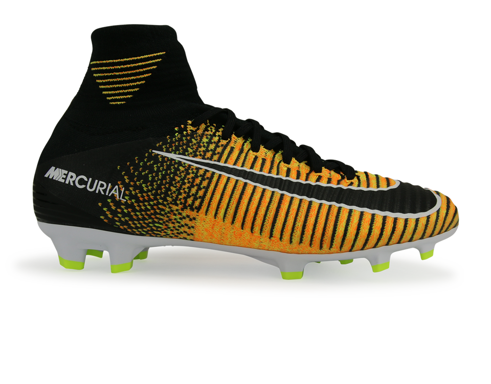 Nike Kids Mercurial Superfly V FG Laser Orange/Black/White/Volt