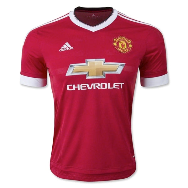 adidas Youth Manchester United 15/16 Home Jersey Risk Red/Black/White