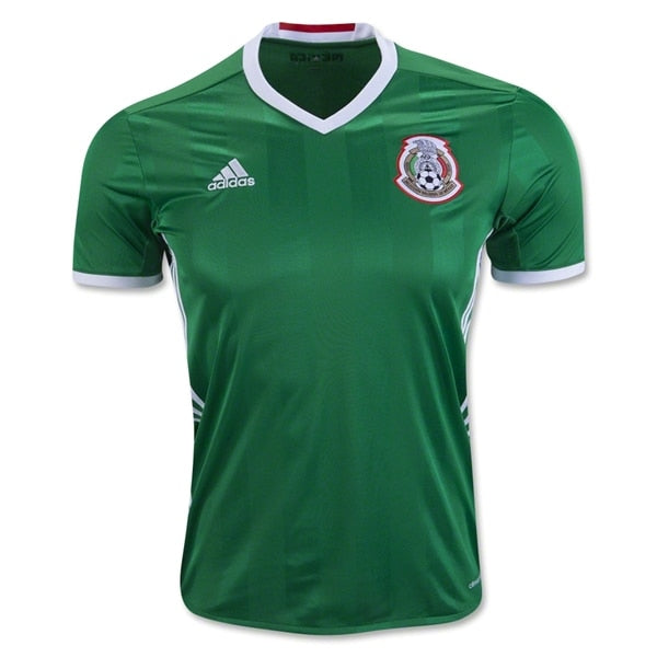 adidas Kids Mexico 16/17 Home Jersey Green/Red/White