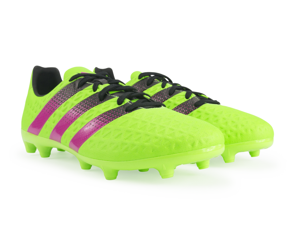 adidas Men's ACE 16.3 FG/AG Solar Green/Black/Shock Pink