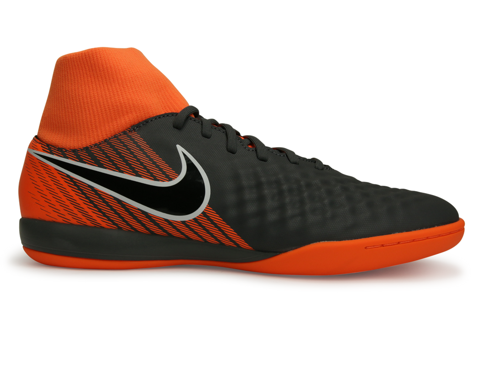 official store 2018 sneakers separation shoes Nike Men's Magista Obrax 2 Academy DF Indoor Soccer Shoes Dark Grey/Total  Orange/White