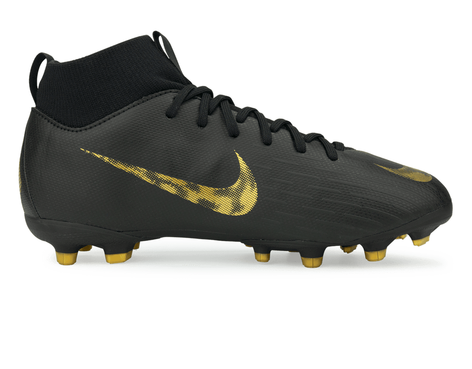Nike Kids Mercurial Superfly 6 Academy GS FG/MG Black/Metallic Vivid Gold