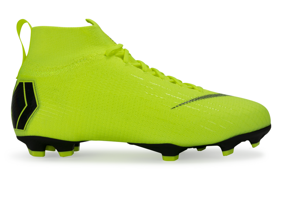Nike Kids Mercurial Superfly 6 Elite FG Volt/Black
