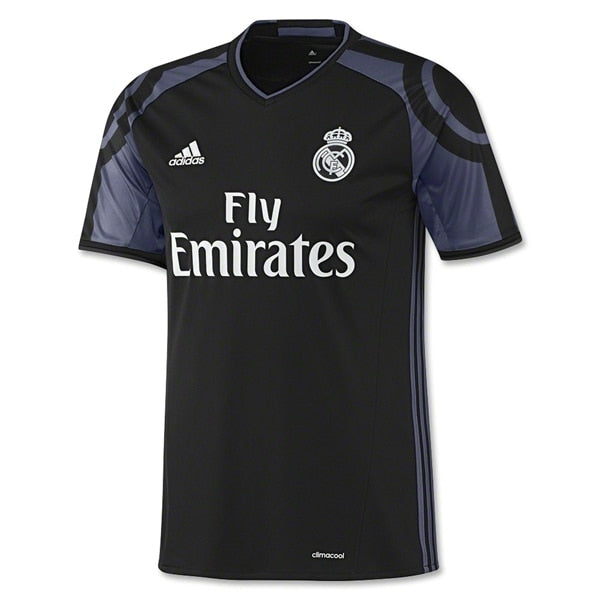 adidas Kids Real Madrid 16/17 Third Jersey Black