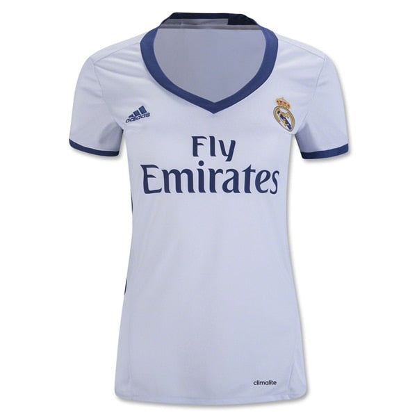 adidas Women's Real Madrid 16/17 Home Jersey Crystal White/Raw Purple