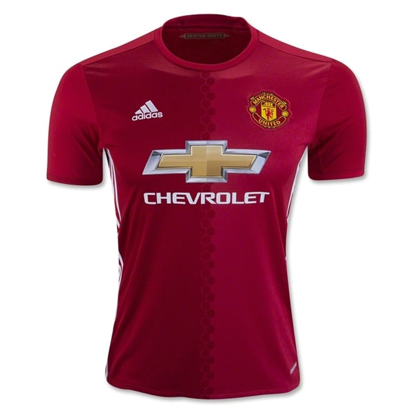 adidas Kids Manchester United 16/17 Home Jersey Real Red/White