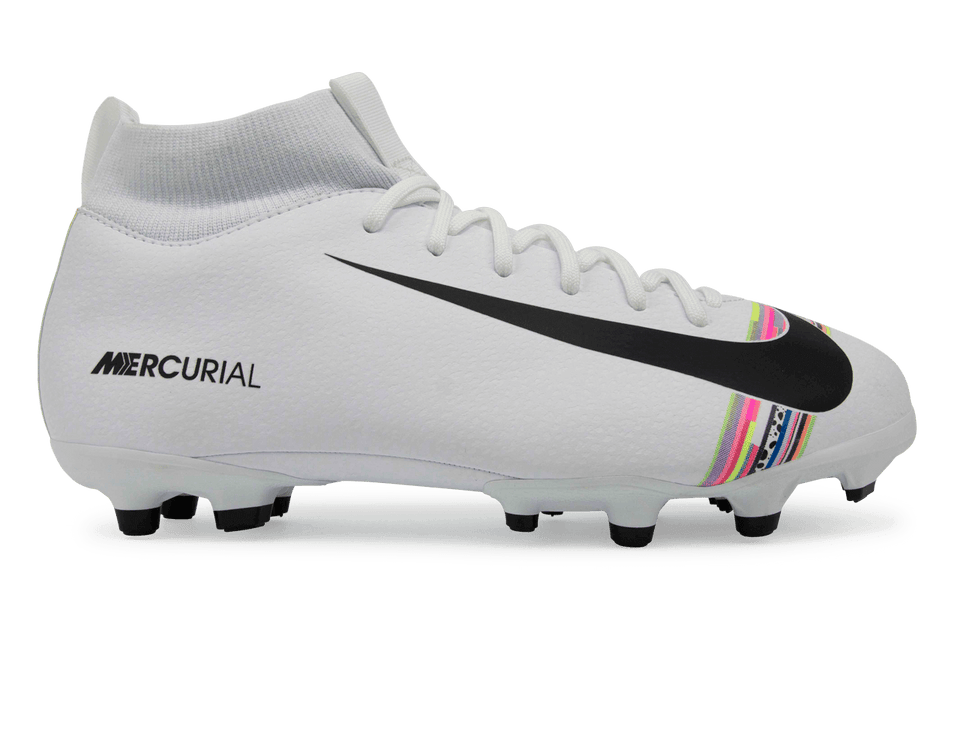 Nike Kids Mercurial Superfly 6 Academy GS FG White/Black/Pure Platinum