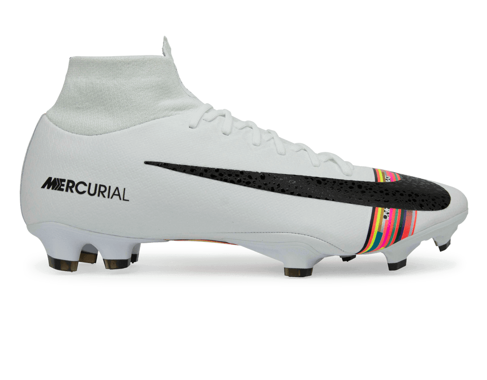 Nike Men's Mercurial Superfly 6 Pro FG White/Black/Pure Platinum