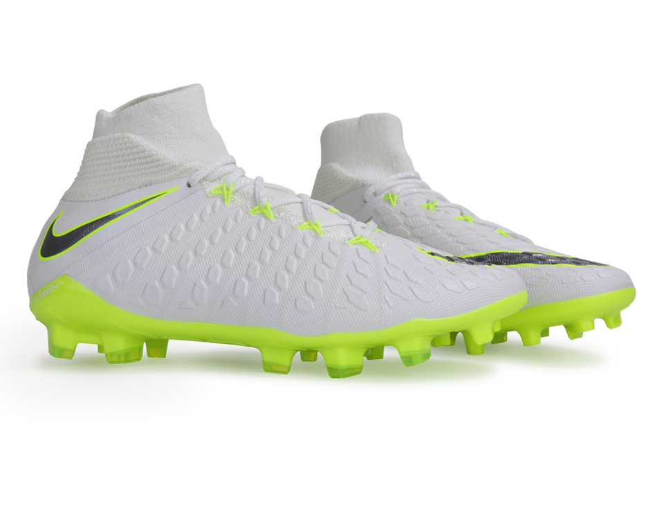 Nike Kids Hypervenom Phantom 3 Elite DF FG White/Metallic Cool Grey