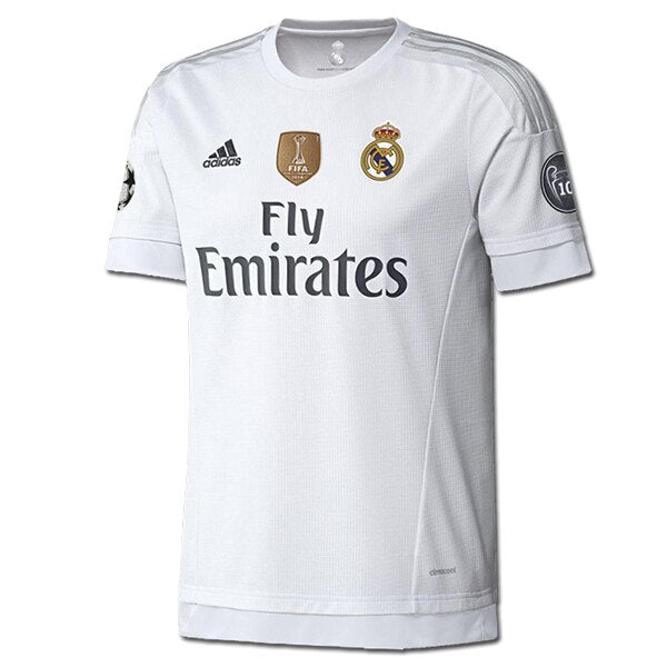 adidas Men's Real Madrid 15/16 Champions Home Jersey White/Clear Grey/Onix