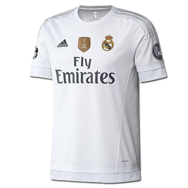 adidas Kids Real Madrid 15/16 Champions Home Jersey White/Clear Grey/Onix
