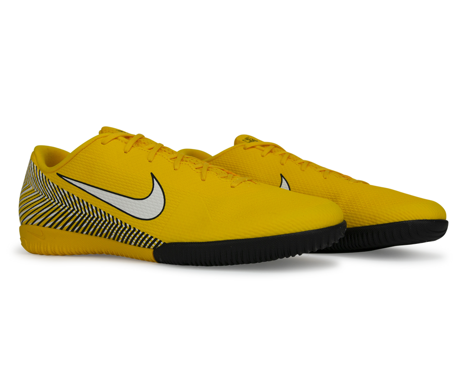 Nike Men's Mercurial Vapor 12 Academy Neymar Jr Indoor Soccer Shoes Amarillo/White/Black