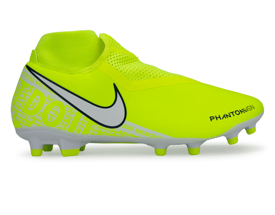 Nike Men's PhantomVSN Academy DF FG/MG Volt/White