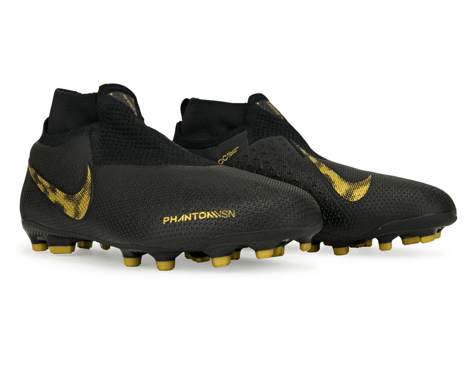 Nike Kids PhantomVSN Elite DF FG/MG Black/Metaliic Vivid Gold