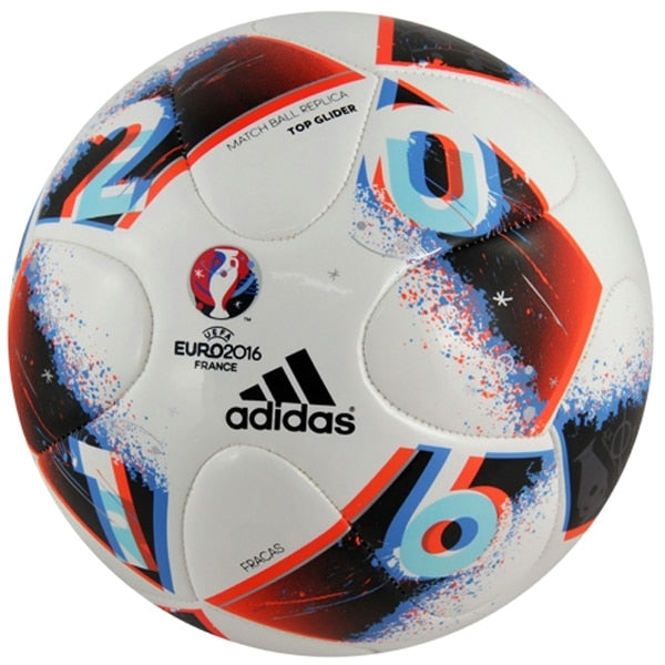 Adidas UEFA EURO 2016 Fracas Top Glider Ball White/Bright Blue/Solar Red/Silver