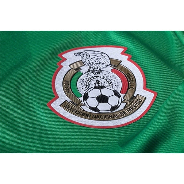 adidas Men's Mexico 16/17 Authentic Home Jersey Green/Red/White